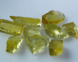 NR!! 13.20 CTs Natural & Unheated~ Yellow Heliodor Rough Lot
