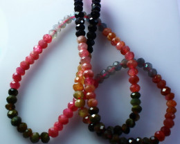 NR!! 52.50 CTs Natural & Unheated~ Multi Color Beryl Beads String