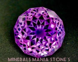 96 Carat One of The Best Flower Cut Amethyst Gemstone