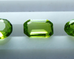 NR!! 2.80 CTs Natural & Unheated~ Green Peridot Gemstone Lot