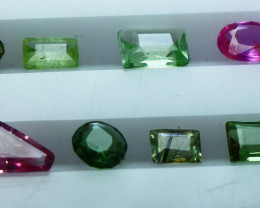 NR!! 1.70 CTs Natural & Unheated~ Multi Color Tourmaline Gemstone Lot