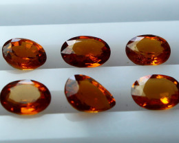 NR!! 3.80 CTs Natural & Unheated~ Orange Garnet Gemstone Lot