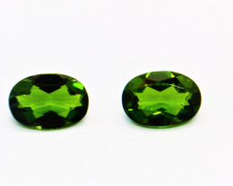 1.32cts Certified Natural Chrome Diopside Pair