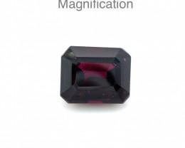 5.85ct Emerald Cut Rhodolite Garnet- $1 No Reserve Auction