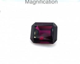 5.48ct Emerald Cut Rhodolite Garnet-$1 No Reserve Auction