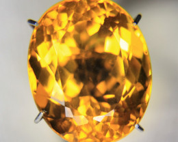 8.65cts Oval Natural Madeira Citrine Precision Cut