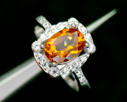 15CT MADEIRA CITRINE 925 SILVER RING 6 BEST QUALITY GEMSTONE IIGC02