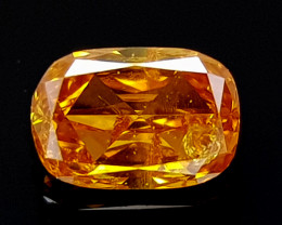 0.11CT DIAMOND GOLDEN YELLOW BEST QUALITY GEMSTONE IIGC02