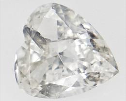 0.30 cts , White Color Diamond , Heart Cut Diamond
