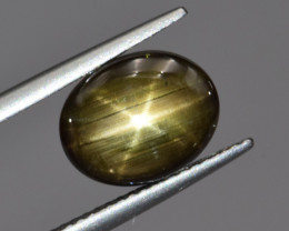 Natural Black Star Sapphire 4.14 Cts, Six Rays
