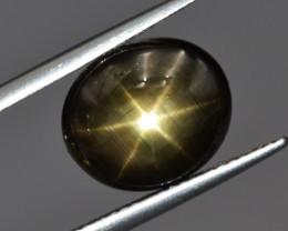 Natural Black Star Sapphire 6.64 Cts, Six Rays