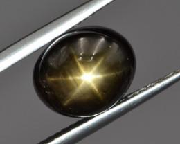 Natural Black Star Sapphire 6.71 Cts, Six Rays
