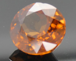 5.04ct Oval Orange Zircon