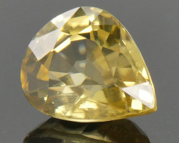 2.76ct Pear Yellow Zircon - $1 No Reserve Auction