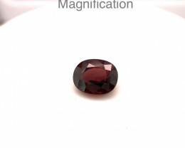 2.45ct Cushion Red Zircon- $1 NR Auction