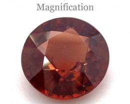 2.31ct Round Orange Zircon-$1 No Reserve Auction