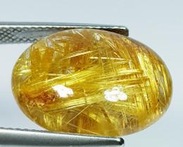 13.96 Ct Top Quality Gem Oval Cab Natural Golden Rutile Quartz
