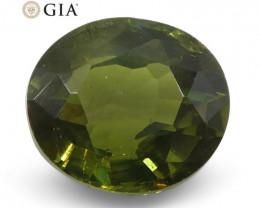 1.06ct Oval Alexandrite GIA Certified Sri Lanka Green to Brown