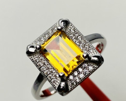 18 CT- LEMMON CITRIN-   HIGHEST QUALITY JEWELRY FOR LITTLE MONEY - BECAUSE