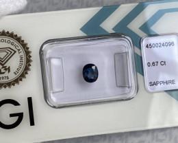 DEEP Blue UNTREATED Sapphire Oval Cut IGI CERTIFIED Sealed Rare Unheated Ge