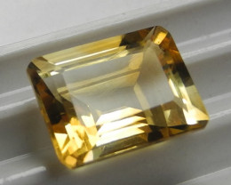 LOVELY AAA 11X8MM ORANGE CITRINE EMERALD CUT!!