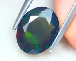 1.26ct Natural Ethiopian Welo Solid Smoked Faceted Opal Lot LZ7473