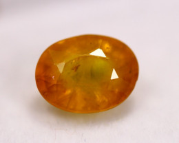 2.87ct Natural Yellow Sapphire Oval Cut Lot LZ7482