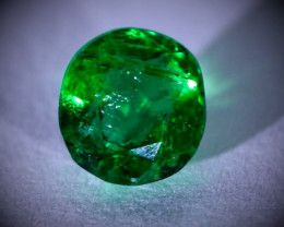 Emerald .50ct, Emerald is Natural and Untreated, Round Shape, Sourced Panjs