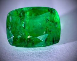 Emerald .95ct, Natural and Untreated, Not Oiled, Cushion Shaped, Sourced Sw