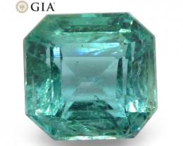 3.27ct Octagonal/Emerald Cut Emerald GIA Certified Zambian