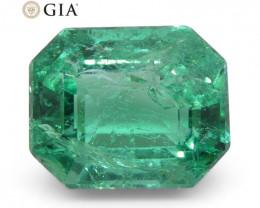 2.92ct Octagonal/Emerald Cut Emerald GIA Certified Zambian