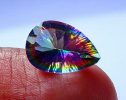 3.30 CTs Natural & Unheated~ Multi Color Coated Quartz Gemstone