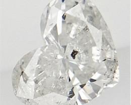 0.19 cts , White Color Diamond , Heart Brilliant Cut Diamond