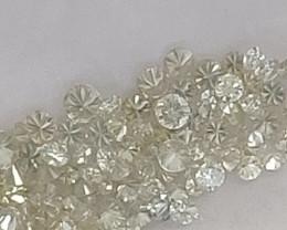 Natural white diamond  3ctw lot app 0.04 ctw size pcs