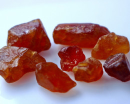 104 CTs Natural & Unheated~Orange Garnet Rough Lot