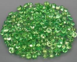 200Pcs/8.74 Ct Diamond Cut 2.0 mm.Best Color Natural Tsavorite Garnet