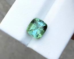 3.45 Ct Natural Greenish Blue Transparent Tourmaline Gemstone