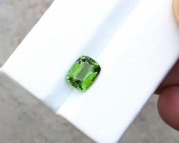 1.80 Ct Natural Green Transparent Tourmaline Ring Size Gemstone