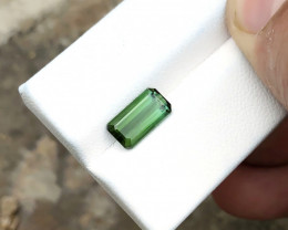 2.95 Ct Natural Green Transparent Tourmaline Gemstone