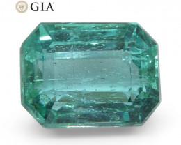 3.1ct Octagonal/Emerald Cut Emerald GIA Certified Zambian