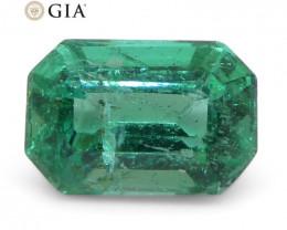 1.18ct Octagonal/Emerald Cut Emerald GIA Certified Zambian