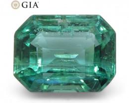 1.47ct Octagonal/Emerald Cut Emerald GIA Certified Zambian