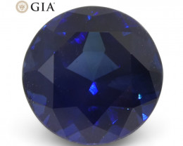 2.61ct Round Blue Sapphire GIA Certified Madagascar Unheated