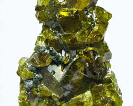 Amazing Natural color Epidote cluster with Diposite  Specimen 46Cts-A