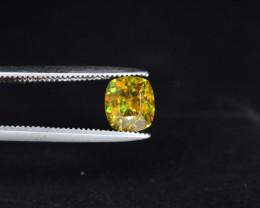 Attractive 1.55 ct Deep Color Panjshir Emerald Ring Size