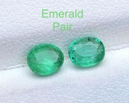 Attractive 0.80 ct Deep Color Panjshir Emerald  Pair Jewlery