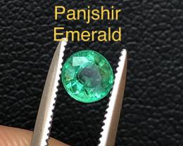 Attractive 0.35 ct Deep Color Panjshir Emerald Ring Size