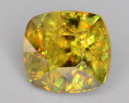 Sparkle 0.80 cts Eye Catching Chrome Sphene Ring Size