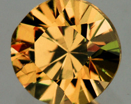 6.00 mm Round 1.21cts Golden Yellow Zircon [VVS]
