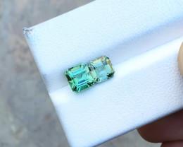 2.30 Ct Natural Blueish Green Transparent Tourmaline Gemstones Parcels